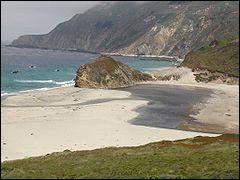 Le chevalier de sables (The sandpiper, qui est le nom d'un oiseau local) est un mauvais film, avec Liz Taylor et Richard Burton, mais tourné en Californie dans un site magnifique, là où réside l'artiste qu'interprète Liz. Lequel ?