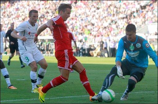 Contre quelle équipe a-t-il inscrit son premier but avec le Bayern Munich ?