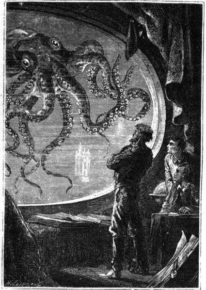 Illustrations de romans de Jules Verne