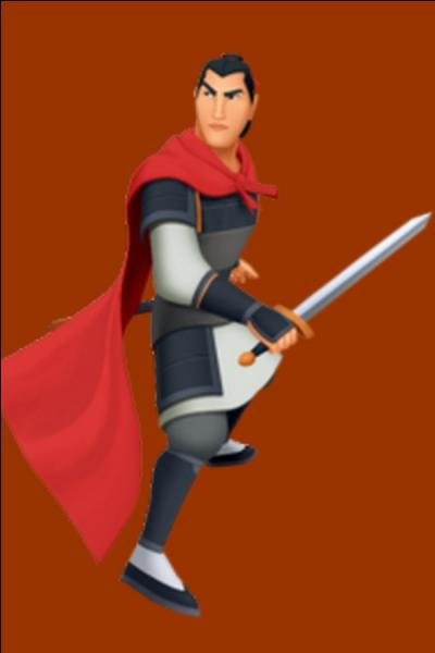 Il est un beau jeune homme courageux. C'est également un jeune capitaine né pour être un héros, tout comme son père qui était un fameux officier dans l'armée. Quel est le nom de ce personnage tiré du conte Mulan ?
