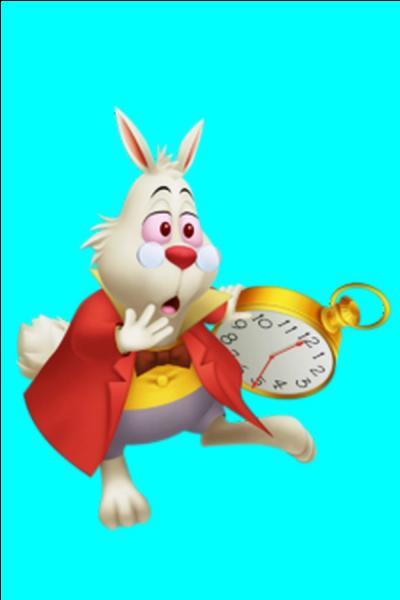 Il est l'huissier de la reine de cœur c'est un personnage stressé, car il est toujours en retard et c'est ainsi qu'il mène les différents visiteurs au pays des merveilles. Quel est son nom ?