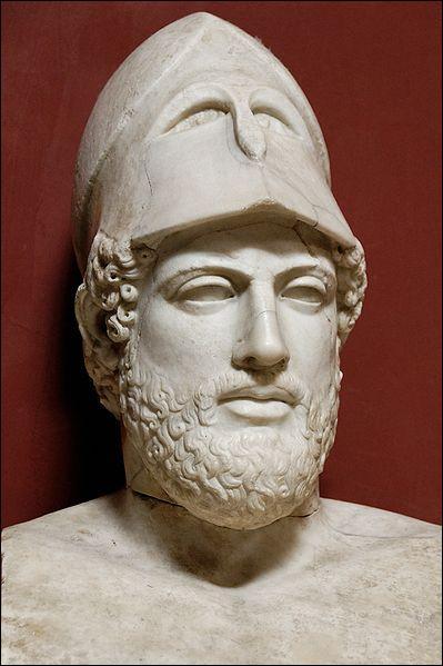 Né à Athènes vers 495 avant J.-C. Il fut le stratège et l'homme d'État athénien qui en domina la vie politique de 443 à 429 avant J.-C. Qui est-ce ?