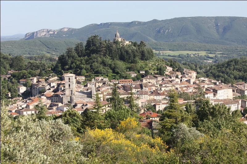 """La """"Cité des quatre reines"""" ou la """"Cité comtale"""", dans le département des Alpes-de-Haute-Provence, a la particularité d'avoir le ciel et l'air les plus purs de France, si ce n'est d'Europe. Quelle est cette ville construite entre la montagne de Lure et le Luberon ?"""