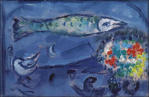 Qui a peint le poisson flottant ?