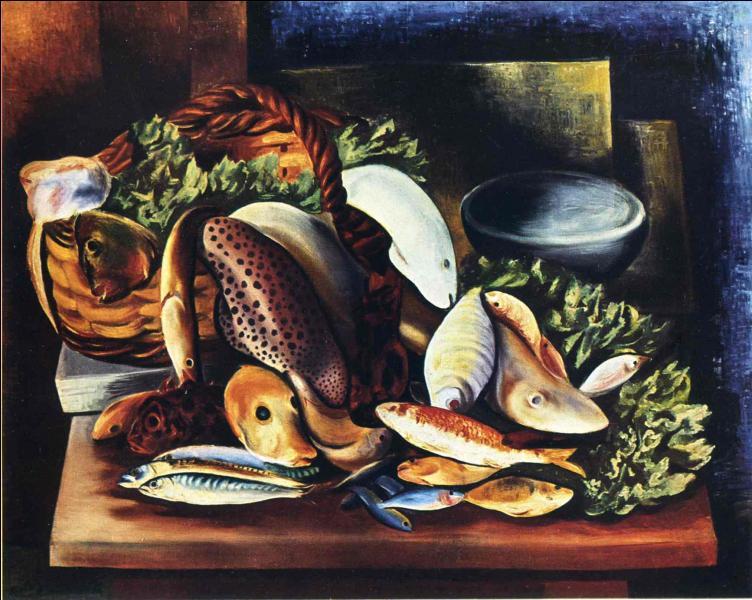 """Qui a peint """"Nature morte aux poissons"""" ?"""