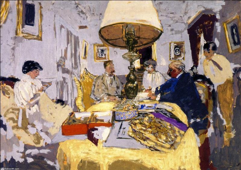 Quel artiste a peint ses amis autour d'une table ?