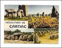 Où se situe la ville de Carnac, célèbre pour ses alignements de menhirs ?