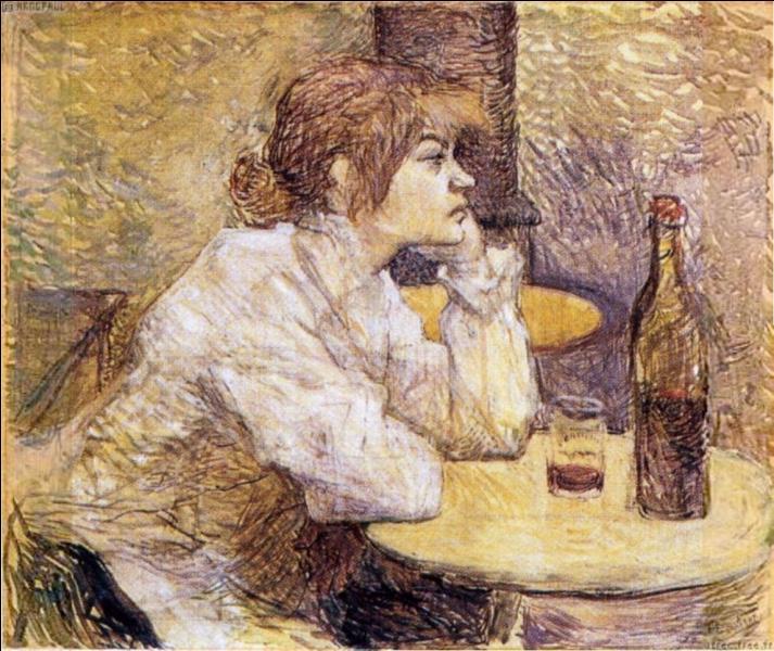 """Quel artiste connu pour ses nombreuses toiles représentant la vie nocturne parisienne, le Moulin Rouge, Jane Avril, la Goulue, a peint """"La gueule de bois"""" ?"""