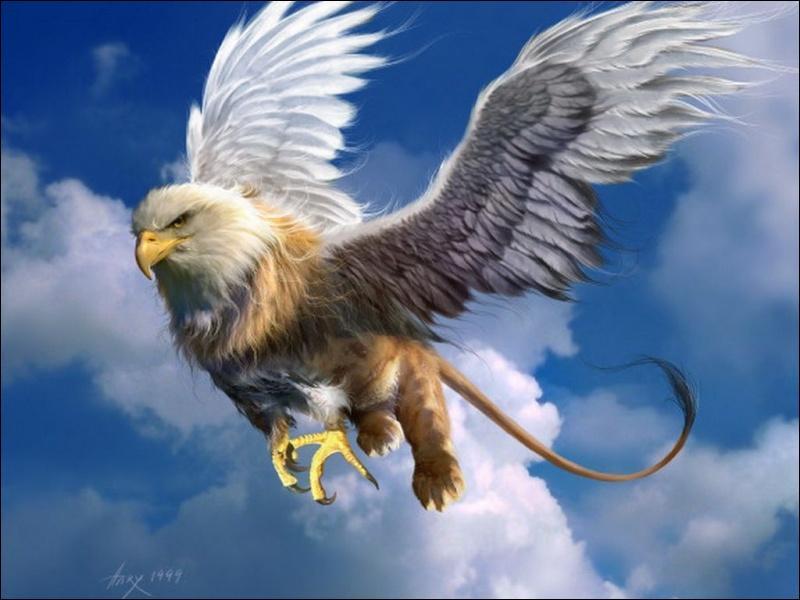 Qui suis-je ?J'ai une tête d'aigle, un corps de lion et des ailes