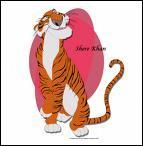 Méchant et fourbe tigre du ' Livre de la Jungle '.