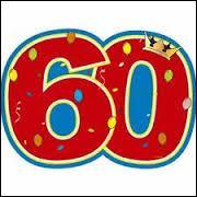 Lorsque vous avez 60 ans de mariage, vous célébrez vos noces de :