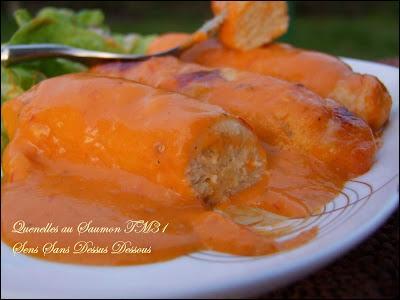 Ces quenelles de saumon baignent dans une sauce béchamel à laquelle on a juste rajouté de la tomate, quel est son nom ?