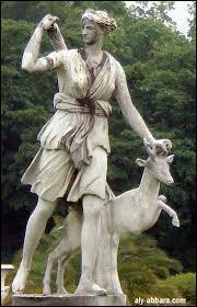 Un cerf m'accompagne et je suis la déesse de la chasse et de la nature.Qui suis-je ?