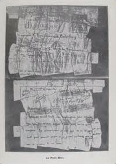 En effet, il découvre de nouveaux indices, comme notamment un papier déchiré adressé par l'attaché militaire allemand à un commandant français. Mais sous quel nom est plus connue cette preuve ?