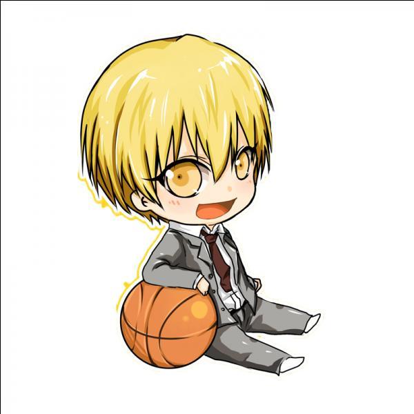 Membre de la génération des miracles, je fais partie maintenant de l'équipe de basketball de Kaijo. Je copie les mouvements de mon adversaire. Qui suis-je ?