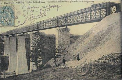 Ce viaduc de 364 mètres de long, construit sur la Souleuvre dans le Calvados en 1889, avait une hauteur de 62 m, le tablier a été démonté en 1970, il estsitué à :