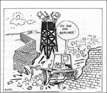 Henri de Bresson dit ceci, dans le journal Le Monde, en novembre 1989 : « Des milliers de Berlinois et d'Allemands de l'Est ont franchi, aux premières heures du vendredi 10 novembre, les divers points de passage entre les deux parties de la ville... ».Quel est l'événement dont il fait la relation ?