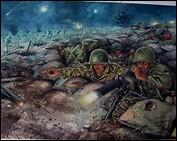Le capitaine Jacques Chevalier écrit ceci dans une lettre du 24 mars : « Ceux qui peuvent vraiment parler de l'enfer de [...] sont les unités qui ont combattu de 20 heures à 7 heures du matin sous un déluge de feu et d'acier de Viets bourrés de choum-choum, marchant sur les morts et attaquant aux lance-flammes. ».De quel événement est-il question ?