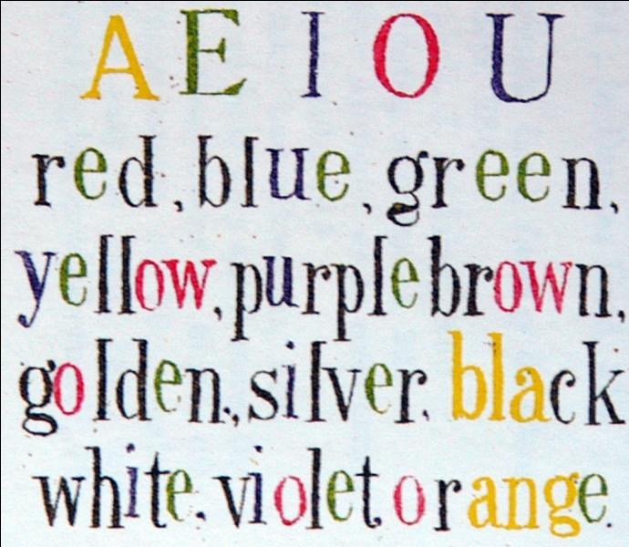 Qui a trouvé les couleurs des voyelles ?