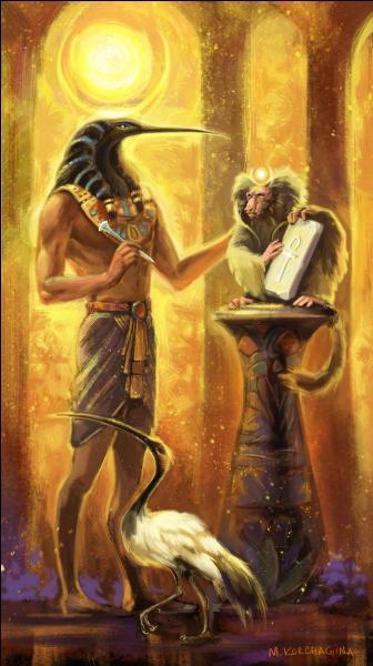 """Le dieu Thot guidera un autre dieu jusqu'à une chambre secrète recélant le """" livre de la magie """" : qui est-il ?"""
