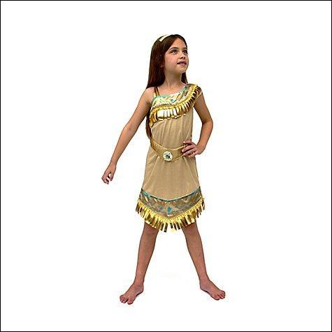 Cette petite fille est déguisée en ... qui est une princesse indienne bien connue.