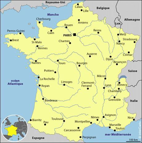 A vol d'oiseau, la distance entre Strasbourg et Brest est de 1367 km.