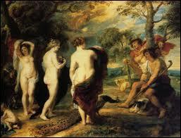Quelle déesse Hermès n'a-t-il pas accompagnée pour le jugement de Pâris ?