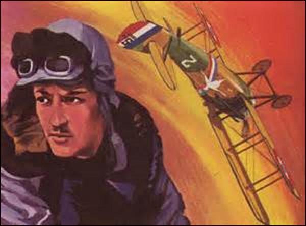 """Second as français de la Grande Guerre, je nais à Paris en décembre 1894. Couronné de 54 victoires, je suis capable de piloter sur divers types d'avions, tous peints en jaune et baptisés """"Le Vieux Charles"""". Faisant partie de l'escadrille des Cigognes, je suis abattu sept fois, avant de me faire descendre définitivement le 11 septembre 1917 au-dessus de Poelkapelle (Belgique). Je suis :"""