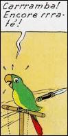 """Comment s'appelle le perroquet que Bianca Castafiore a donné au capitaine Haddock dans """"Les Bijoux de la Castafiore"""" ?"""