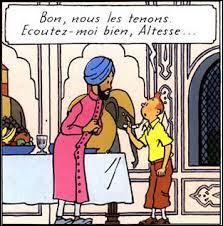 """Où se trouve Tintin au début du """"Lotus Bleu"""" ?"""
