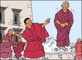 Dans Tintin au Tibet, comment s'appelle le moine qui a des visions ?