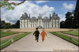 Hergé a été inspiré par quel château pour dessiner le château de Moulinsart ?