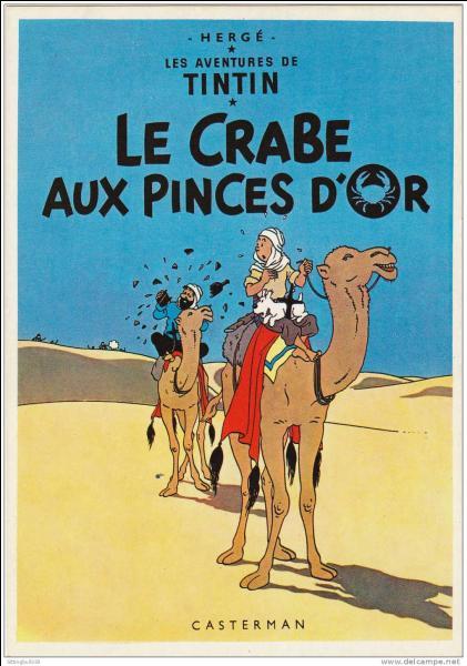 """Dans l'album d'Hergé """"Le crabe aux pinces d'or"""", que contiennent les boîtes de crabe ?"""
