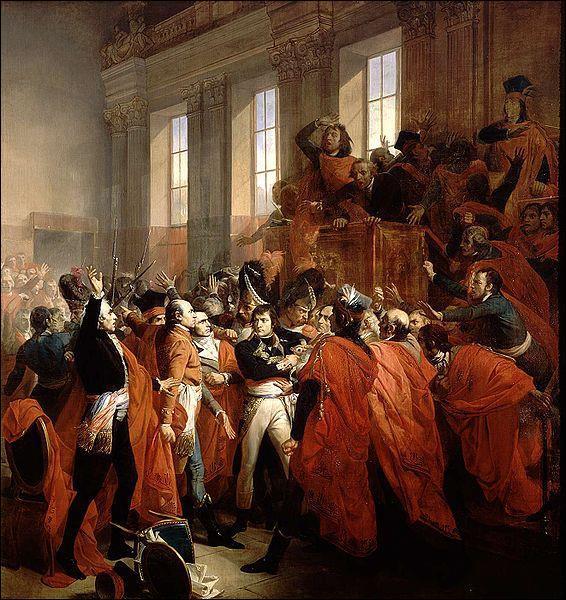 Cet événement, qui a eu lieu le 9 novembre 1799, a failli ne pas avoir lieu. Il s'agit de :