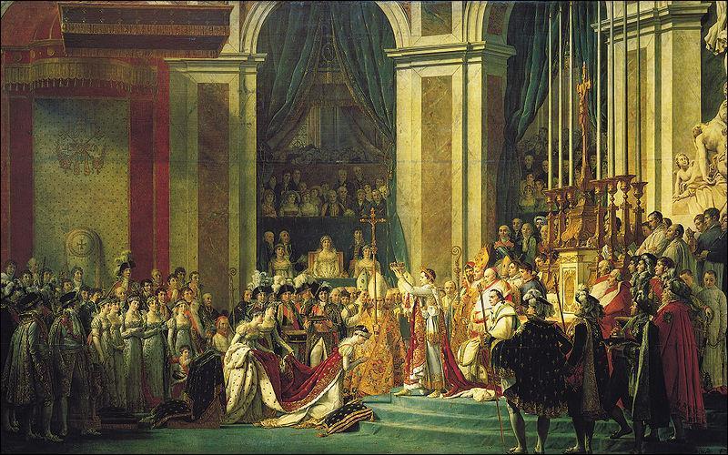 Célèbre tableau peint par Jacques-Louis David, il représente le couronnement de :