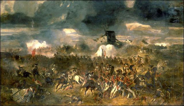 Cette bataille, qui a lieu le 18 juin 1815, est une défaite pour Napoléon Ier contre les Prussiens et les Britanniques. C'est :