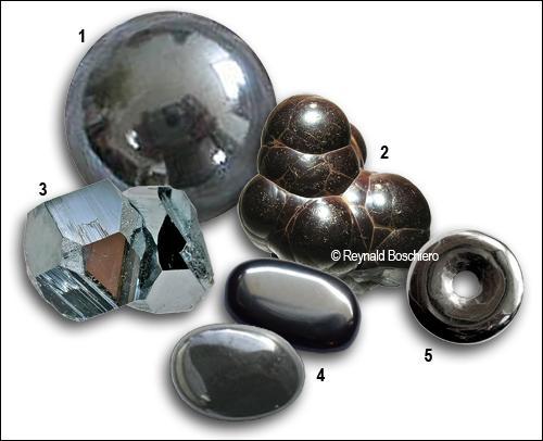 Que sont ces espèces minérales composées d'oxyde de fer ?