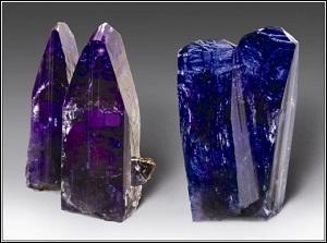 Quelle est cette pierre fine, variété de zoïsite, dont la couleur peut varier du bleu au violet, selon l'orientation du cristal ?
