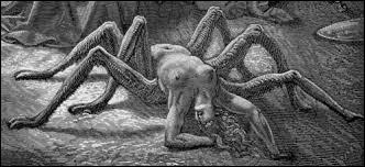 Je suis une femme très orgueilleuse. J'ai osé défier une déesse. Celle-ci m'a transformée en monstre alors que je venais de me suicider. Qui suis-je ?