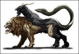 Je suis un animal hybride. J'ai été tuée par un héros chevauchant un cheval ailé. Qui suis-je ?