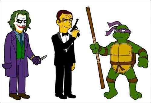 Trouve le numéro correspondant au Simpson du milieu !