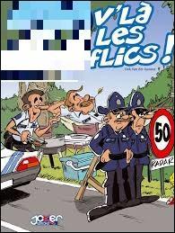 """""""21 v'la les flics"""" cette expression française est correctement écrite."""