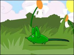 """Dans la célèbre comptine """"Une souris verte, qui courait dans l'herbe"""", en quoi se transforme-t-elle quand on la trempe dans l'huile, puis dans l'eau ?"""