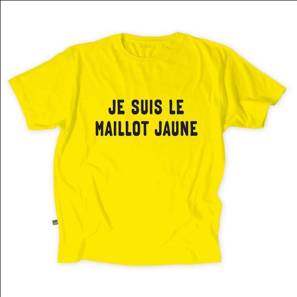 C'est sans problème que ce maillot jaune va vous indiquer de quelle course il s'agit.
