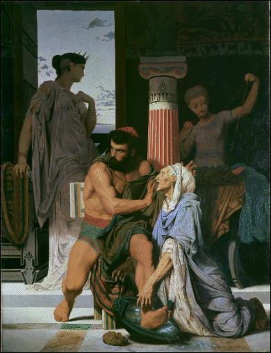Enfin de retour sur son île, déguisé en mendiant le rendant méconnaissable, son ancienne nourrice, lui lavant les pieds, reconnut Ulysse grâce à son ancienne blessure ; qui est-elle ?