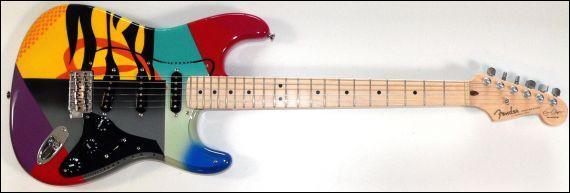 Regardez bien la guitare et trouvez son propriétaire !