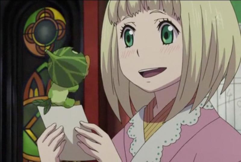 Je suis une exorciste manipulant les plantes et amie de Rin et Yukio. Qui suis-je ?