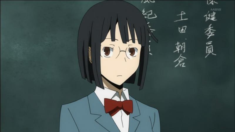 Je suis l'amie de Mikado et Masaomi détentrice du sabre démoniaque Saika. Qui suis-je ?