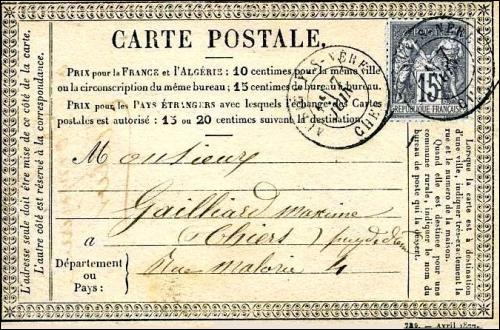 De quand date l'idée de la carte postale ?