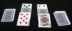 C'est un des jeux de cartes des plus faciles qu'il existe. Seul le hasard est capable de vous faire gagner. Quelle est cette activité ?
